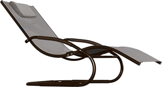 VHcollection Ligbed Wave Lounger Cocoa